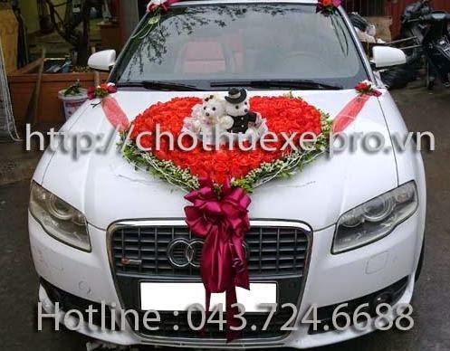 Cho thuê xe cưới mui trần Audi A4 - Đức Vinh Trans