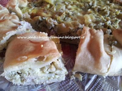 Quiche con pancetta e coste di bietola
