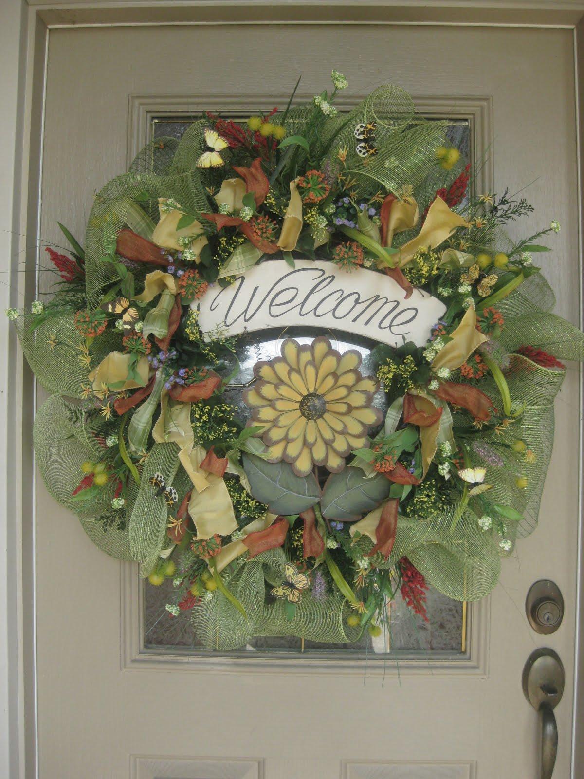 kristen 39 s creations spring mesh wreath new etsy store