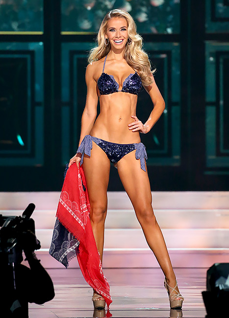 Miss USA 2015 Olivia Jordan showed off her toned bikini body in the Bikini Round