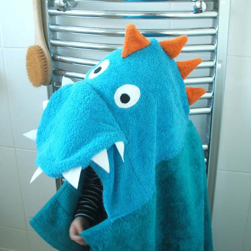 dragon themed children's party handmade towel