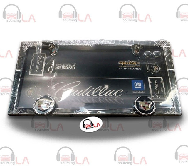 http://www.ebay.com/itm/Cruiser-Accessories-10330-Cadillac-License-Plate-Frame-Chrome-/141691029813