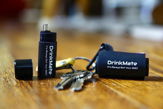 DrinkMate Breathalyzer for Android Smartphones -- fits on your keychain, super small/tiny!