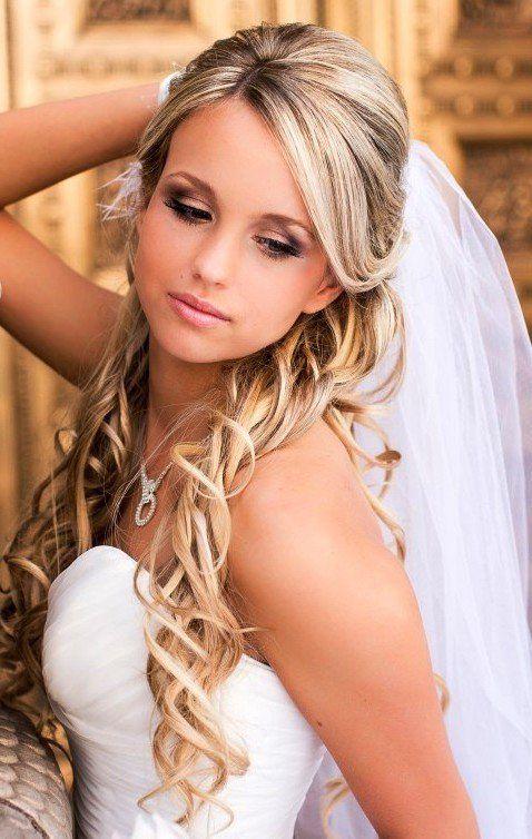 La moda en tu cabello: Hermosos peinados de Novia con velo ...