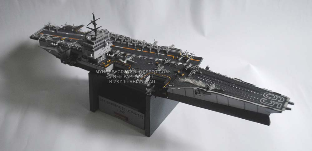 USS Enterprise Papercraft CVN65