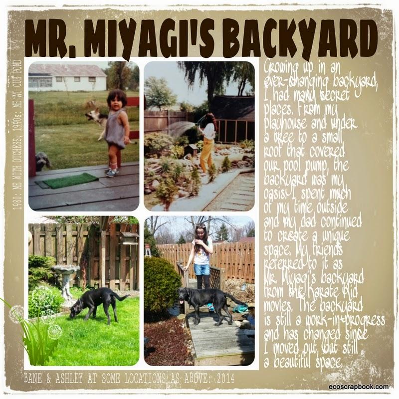 Mr Miyagi Backyard mr. miyagi's backyard: scrapbooked two different ways | ecoscrapbook