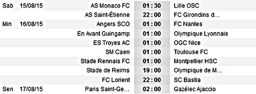 Jadwal Bola Ligue 1 Liga Prancis