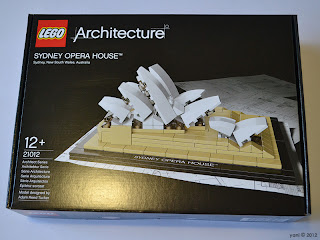lego sydney opera house - the box