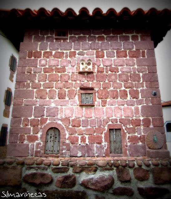 Representación del desaparecido Palacio Dorrea, Arizkun, valle del Baztán Navarra