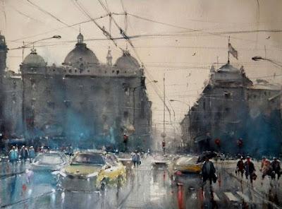Dusan Djukaric amazing  watercolor painting