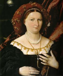 Luzina Bembrati. Lorenzo Lotto. Mondadientes como joya al cuello. Lacasamundo.com