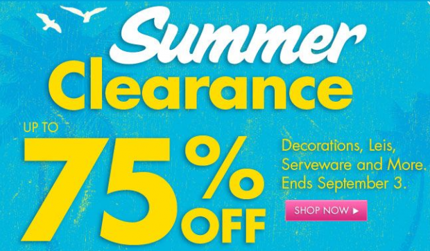 Party city 75 off summer clearance sale extreme savings with a