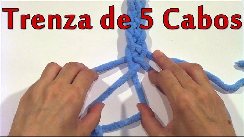 como hacer una trenza de cinco cabos