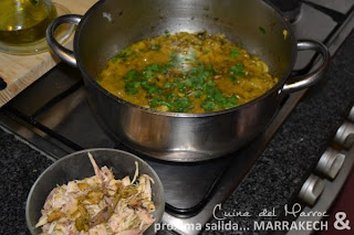 Preparando la salsa de cebolla