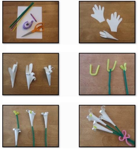 Zona de manualidades como hacer lirios de papel paso a paso - Como hacer cosas de papel paso a paso faciles ...