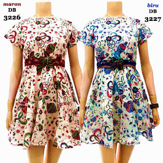 DB3226-3227 Mode Baju Dress Batik Modern Terbaru 2013