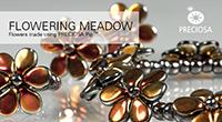 """Украшения """"Цветущиелуга"""" из бусин Пип Pip beads Flowers accessories"""