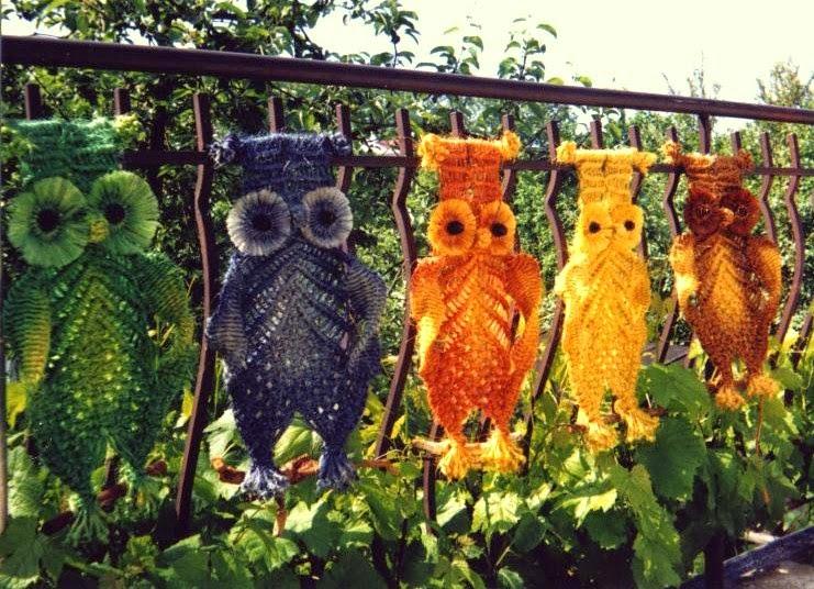 Macrame owls.