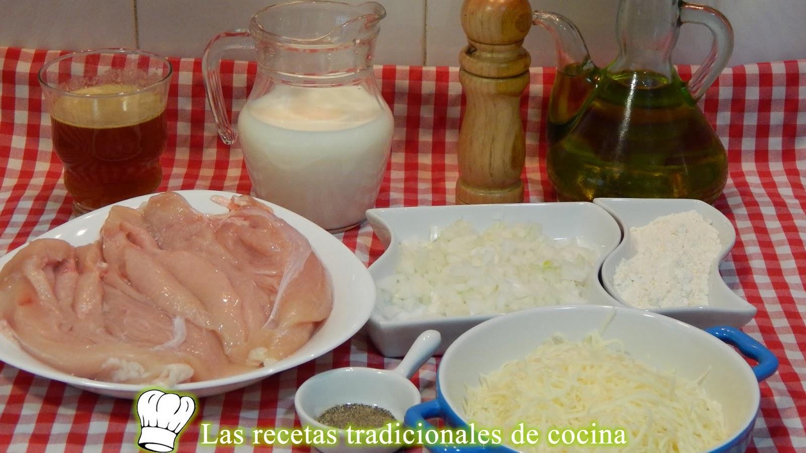 Pechugas de pollo gratinadas con bechamel Ingredientes+de+pechugas+de+pollo+con+bechamel