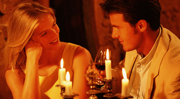 Romantic Dinner Couple Candle Light Picture