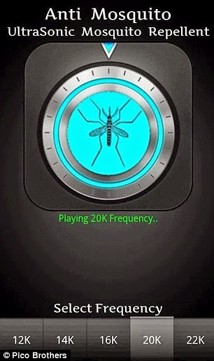 Pasang app pada handphone halau nyamuk