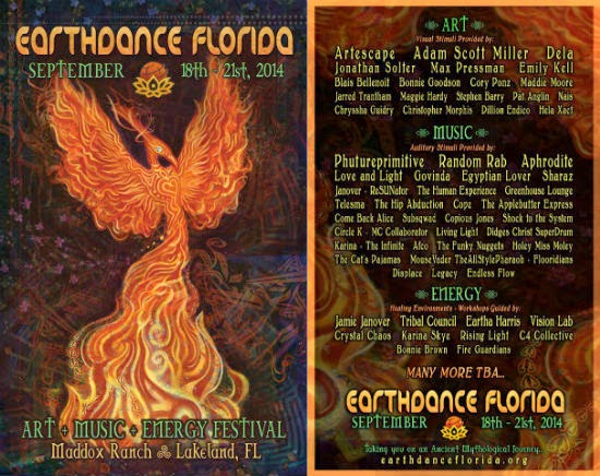 Earthdance Florida Festival Flyer