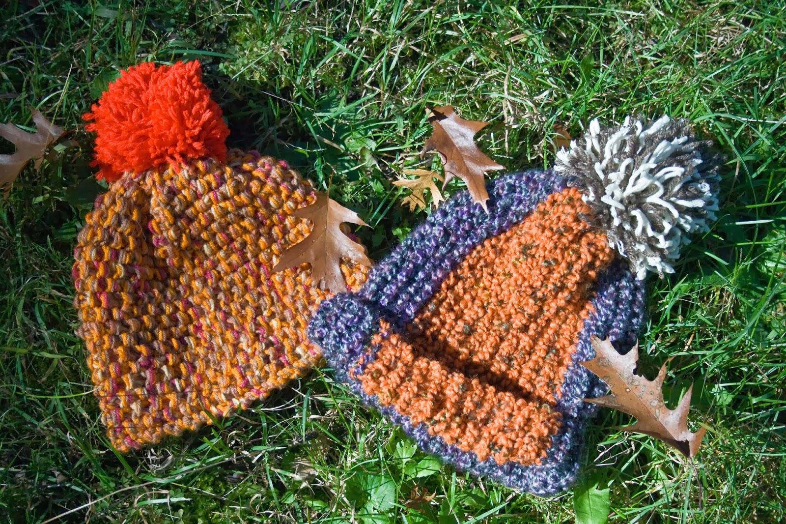 five sixteenths blog: Make it Monday // Two Easy Knit Hats - No ...