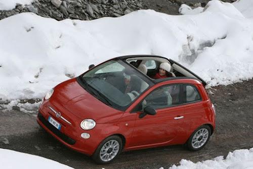 Fiat 500C Winter Drive