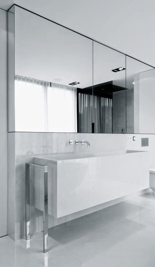 27 ba os minimalistas en fotos cuando menos es m s - Muebles de bano minimalistas ...