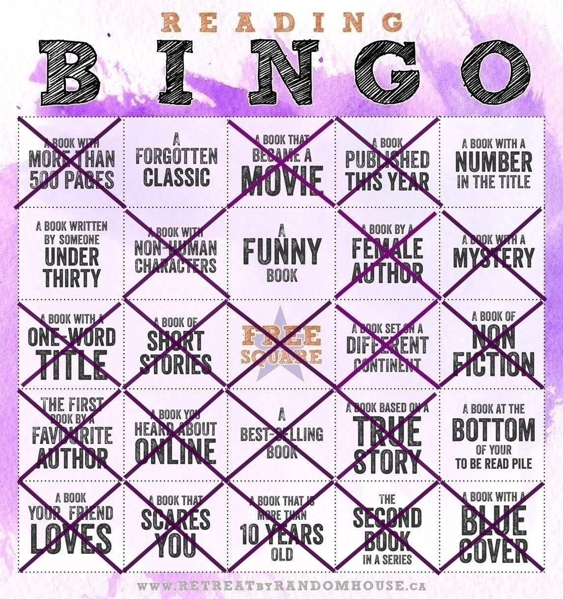 Bingo Reading Challenge