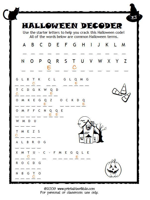 Schede ed attivit didattiche del maestro fabio per la for Halloween word search coloring pages
