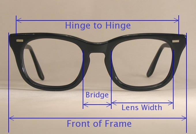 Glasses Frame Measurements : MEASURE EYEGLASS FRAME - EYEGLASSES