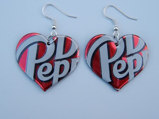 Earrings made from recycled materials ~ Extremely weird stuff
