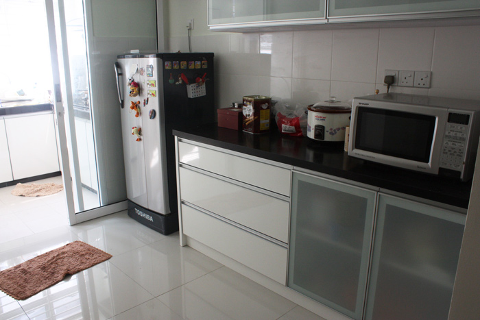 We Built An Extra Sliding Door To Separate The Dry And Wet Kitchen. I Am  Glad I Insist To Install That Door. Looks Stylish And It Really Block Part  Of The ...