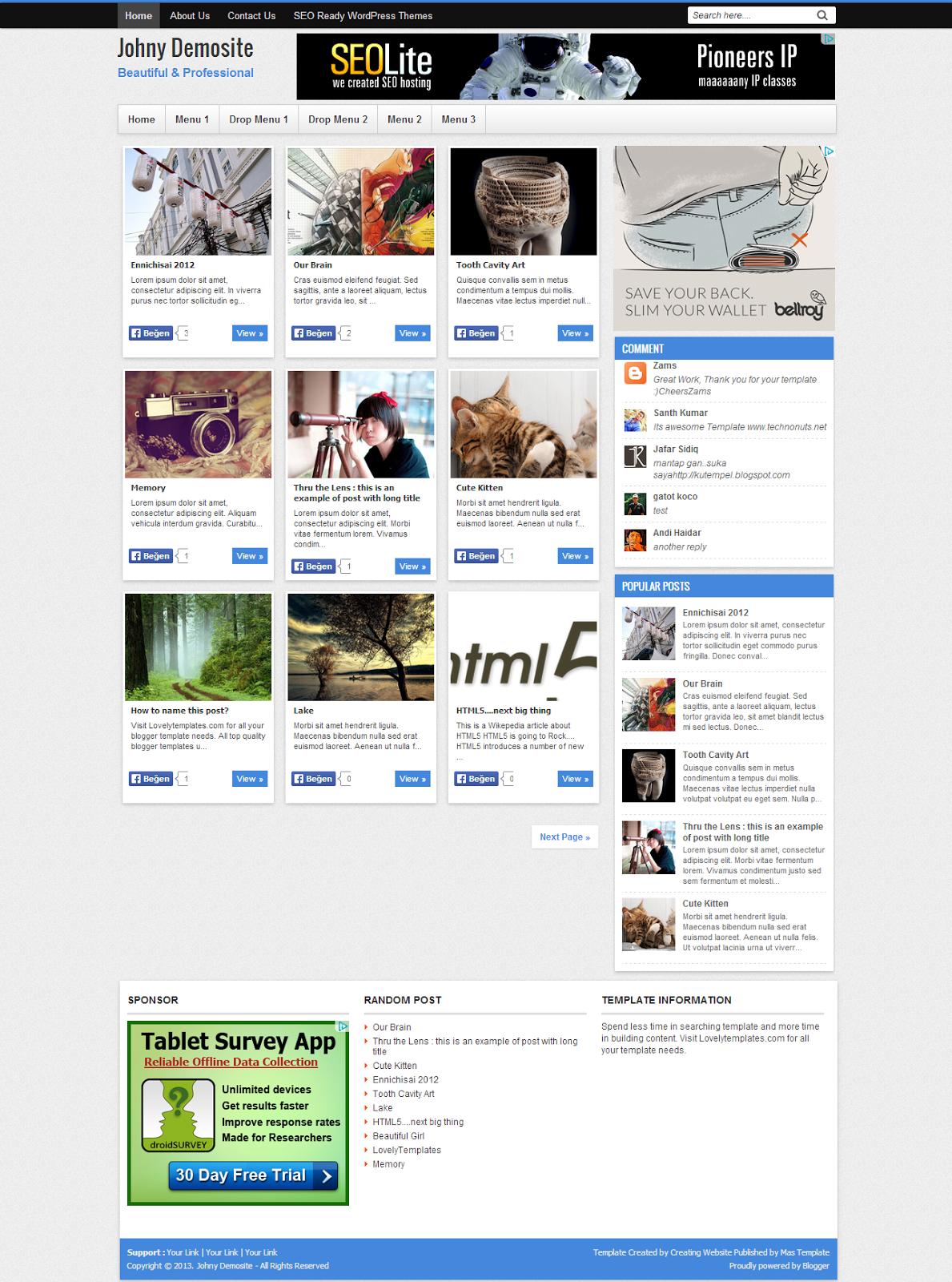 Blogger Johny Blog – Portal Teması
