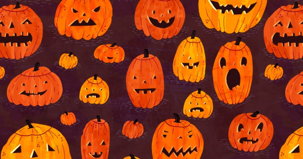 pumpkin pattern wallpaper wwwimgkidcom the image kid