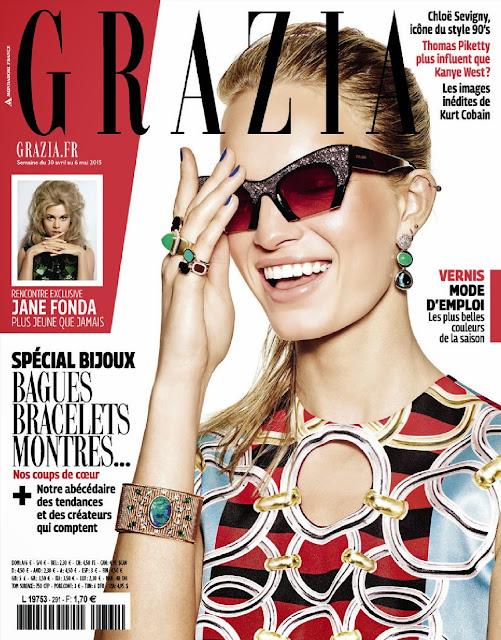 Fashion Model @ Nicola Haffmans, Milou Sluis - Grazia  France, May 2015