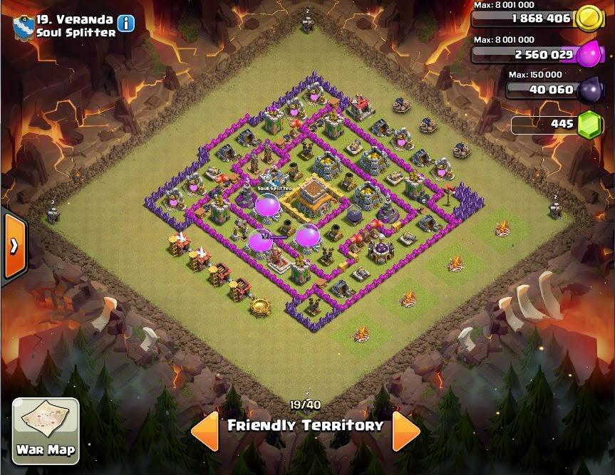 Veranda - COC Clans War Base