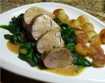 Pork Tenderloin with Light Mustard Sauce