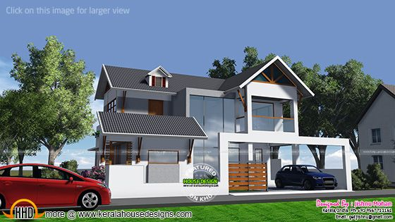 Elevation of house in 5 cents of land
