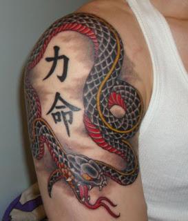 great japanese snake tattoos