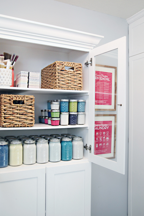 How to Organize Paint and Supplies (I Heart Organizing) | Friday Favorites at www.andersonandgrant.com