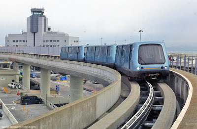 SFO Airtrain San Francisco Aiport Airtrain Air Train peoplemover