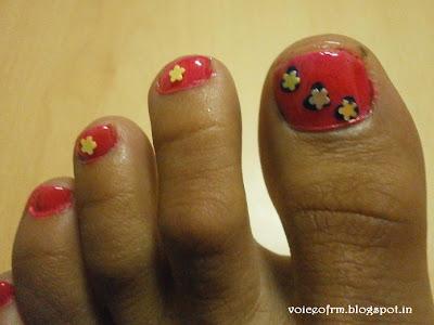 Indian beauty maniac my cute pink toe nail art