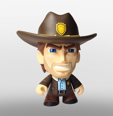 """San Diego Comic-Con 2015 Exclusive Skybound Minis 8"""" Vinyl Figures by Scott Tolleson - The Walking Dead's Rick Grimes"""