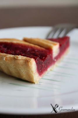 gourmandise tarte aux framboises