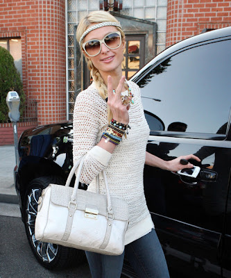 Paris Hilton Long Braided Hairstyle Photo