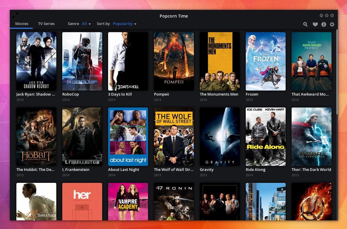 Popcorn Time 0.3 Ubuntu