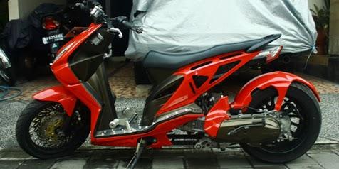 Modifikasi Honda BeAT Model Low Rider