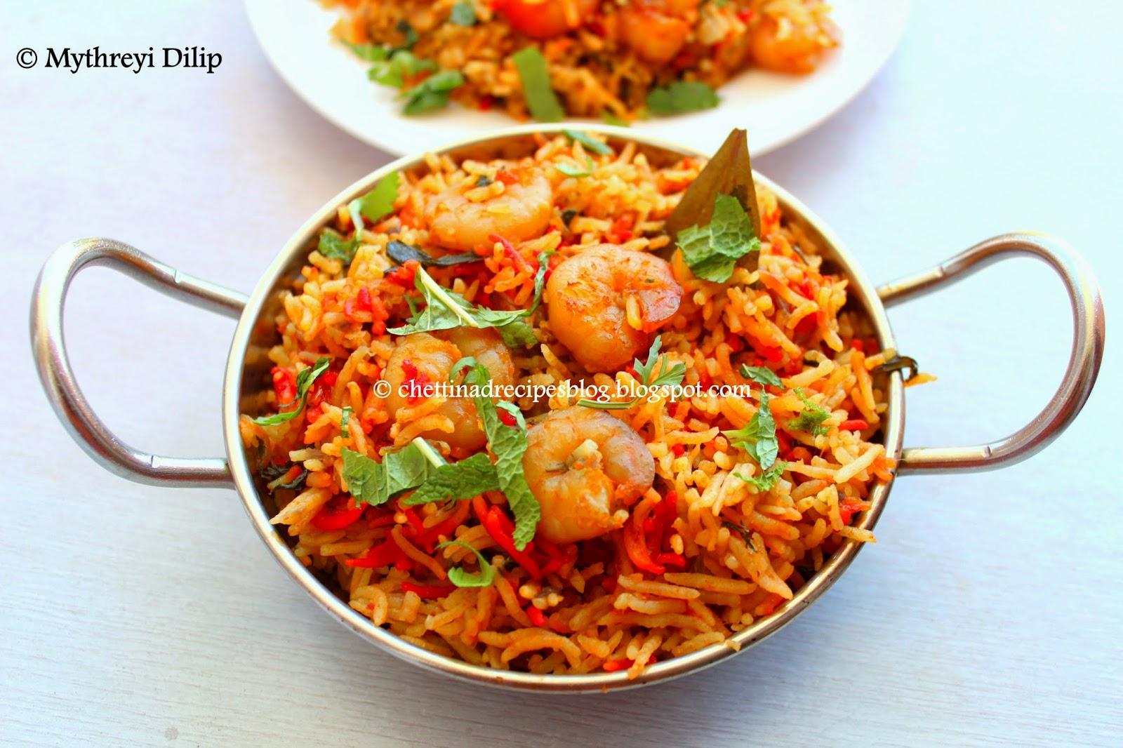 Prawn Biryani - Chettinad Recipes